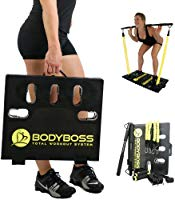 BodyBoss 2.0 - Full Portable Home Gym Workout Package + Resistance Bands - Collapsible Resistance Bar, Handles - Full...