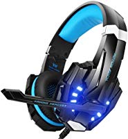 BENGOO G9000 Stereo Gaming Headset for PS4, PC, Xbox One Controller, Noise Cancelling Over Ear Headphones with Mic, LED...