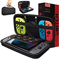 Orzly Carry Case Compatible With Nintendo Switch - BLACK Protective Hard Portable Travel Carry Case Shell Pouch for...