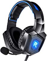 RUNMUS Gaming Headset for PS4, Xbox One, PC Headset w/ Surround Sound, Noise Canceling Over Ear Headphones with Mic &...