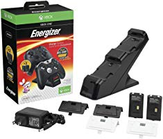 PDP Energizer Xbox One Controller Charger with Rechargeable Battery Pack for Two Wireless Controllers Charging Station ...