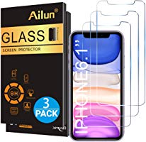 Ailun Glass Screen Protector for iPhone 11/iPhone XR 6.1 Inch 3 Pack Tempered Glass Screen Protector for Apple iPhone...